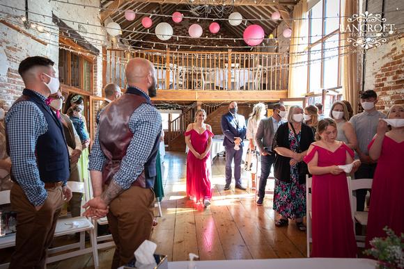 Mike & Kim - Lound Farm Wedding  00249